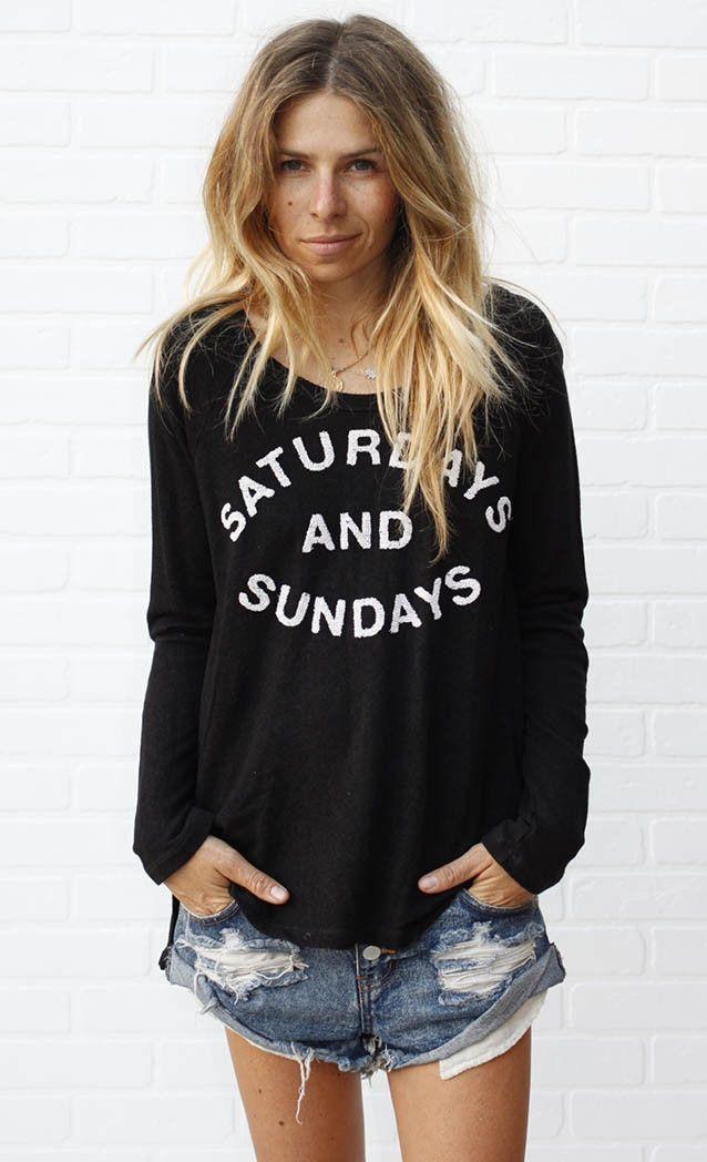 Saturdays and Sundays Raglan