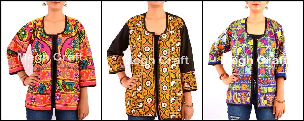 KUTCH VINTAGE. Wholesale traditional kutch embroidery jacket- ...