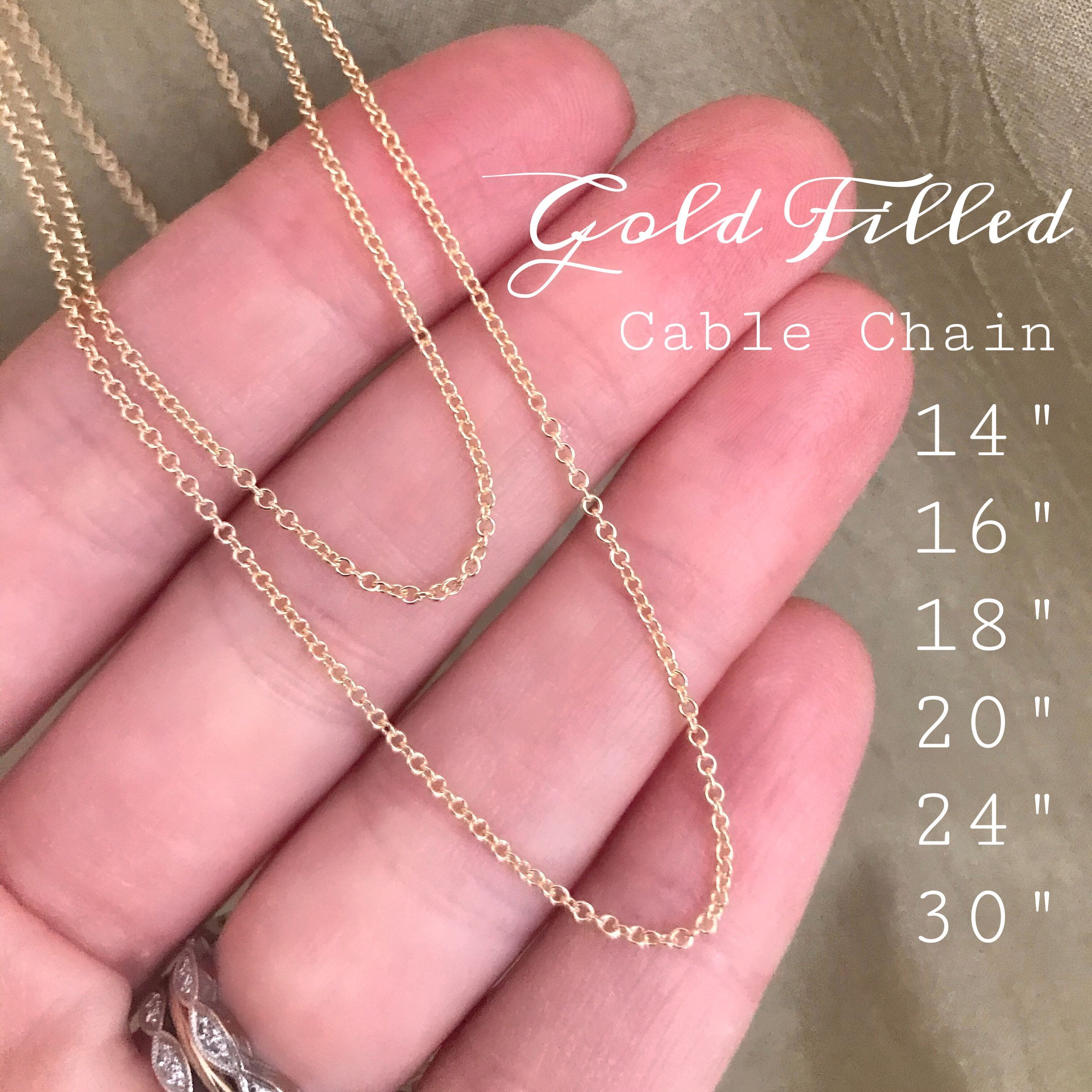 Sterling Silver or gold filled chain upgrade add this listing with your necklace purchase