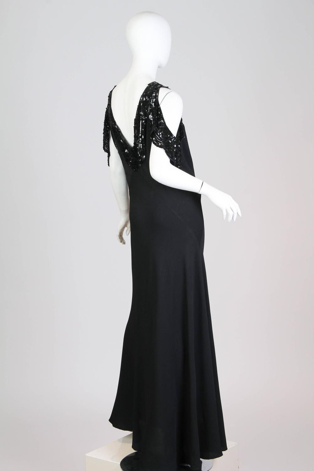 Bias cut s gown with sequin sleeves s sequins and gowns