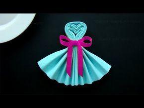 Servietten Falten Herz Einfache Tischdeko Fur Hochzeit Muttertag