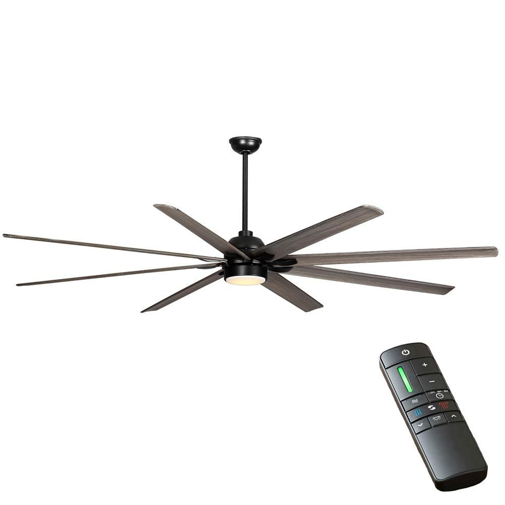 Home Decorators Collection Cordoba Dc 96 In Integrated Led Indoor Outdoor Matte Black Ceiling Fan With Light And Remote Control Black Ceiling Fan Ceiling Fan