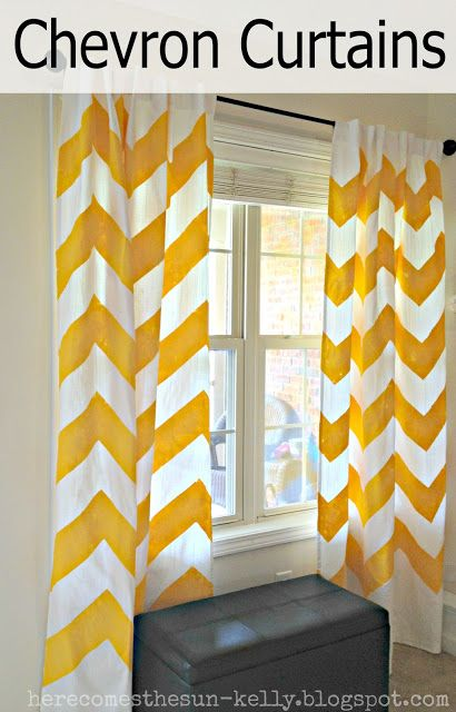 Yellow Chevron Curtains | Chevron curtains, Yellow chevron and Room