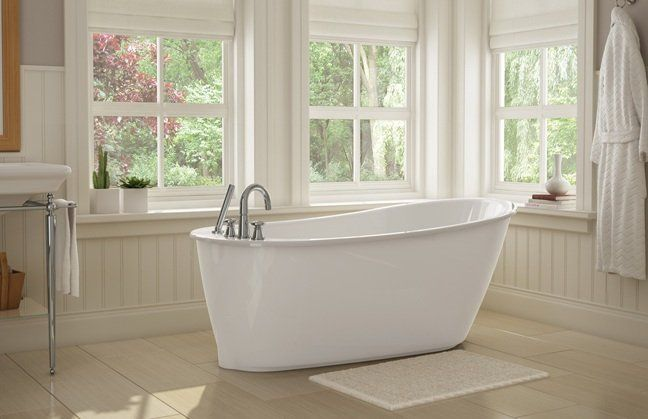 Maax 105797 000 Sax 60 Fiberglass Soaking Bathtub For