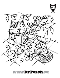 Free Coloring Pages The Animals Have Eye Patches Lazy Exercises To Help Treat Amblyopia