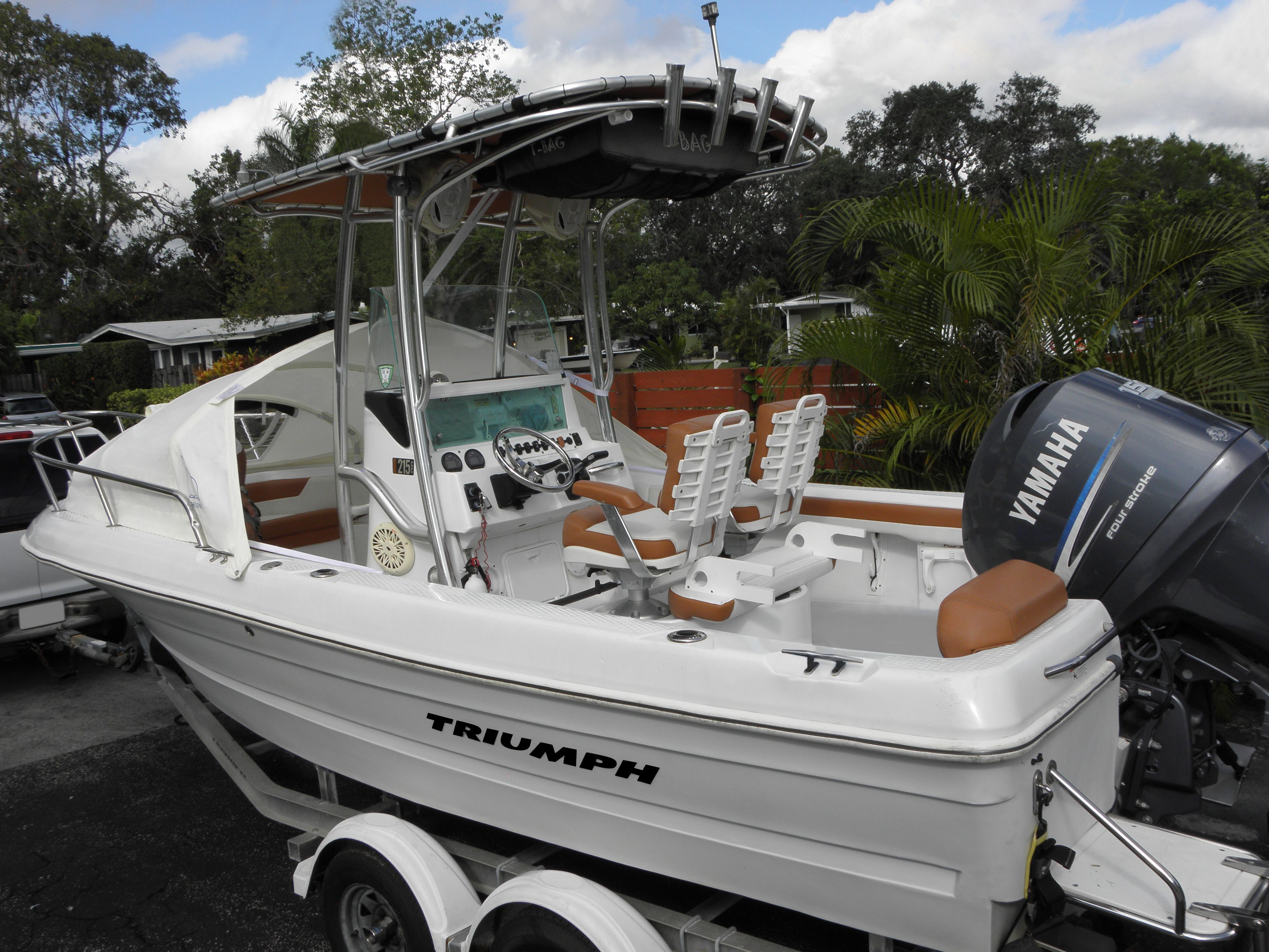 Triumph 215 Cc Upgrated With A Canvas Cuddy The Element By Marine Canopy Camp On Your Center Console Boat