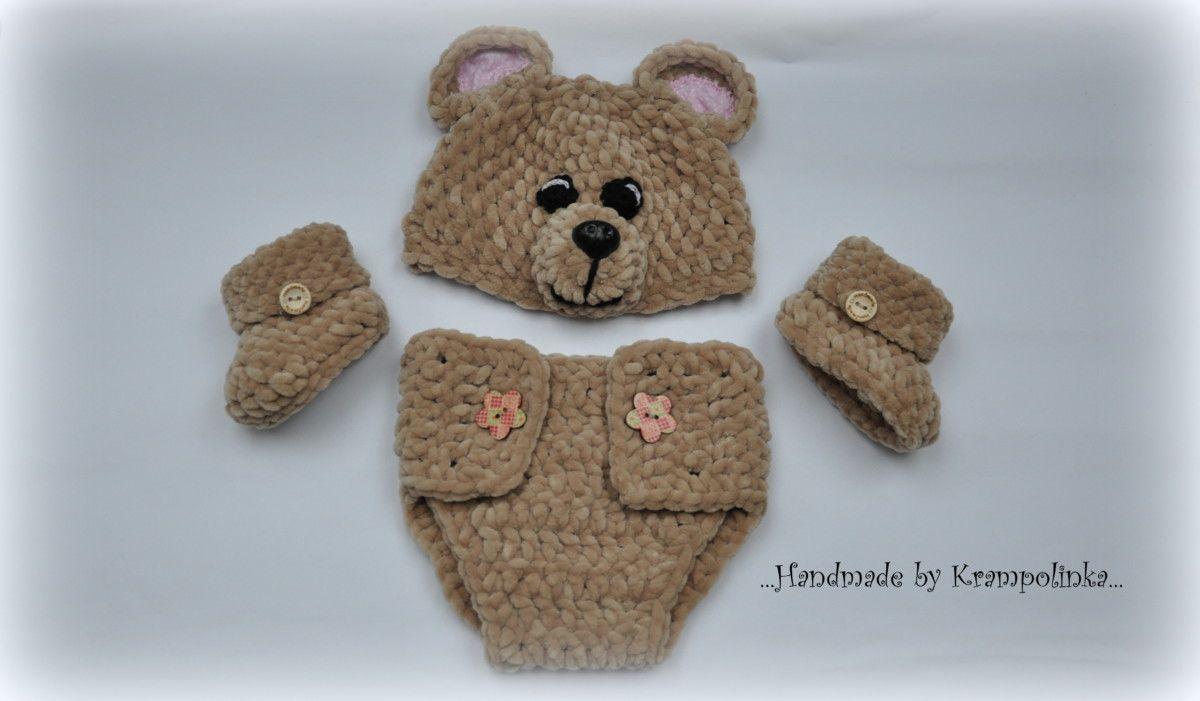 Teddybear photo props set. The first one. | Crochet | Pinterest