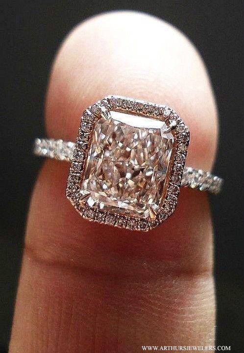 Top Pinterest Engagement Rings Square Wedding Rings Beautiful Jewelry Stunning Diamond Rings