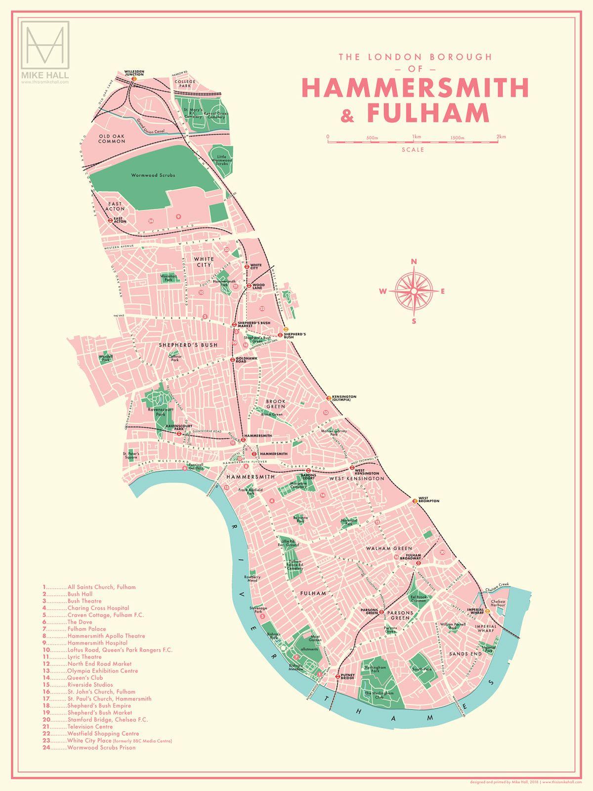 Mike Hall On Behance Gerald London Borough Map Map London