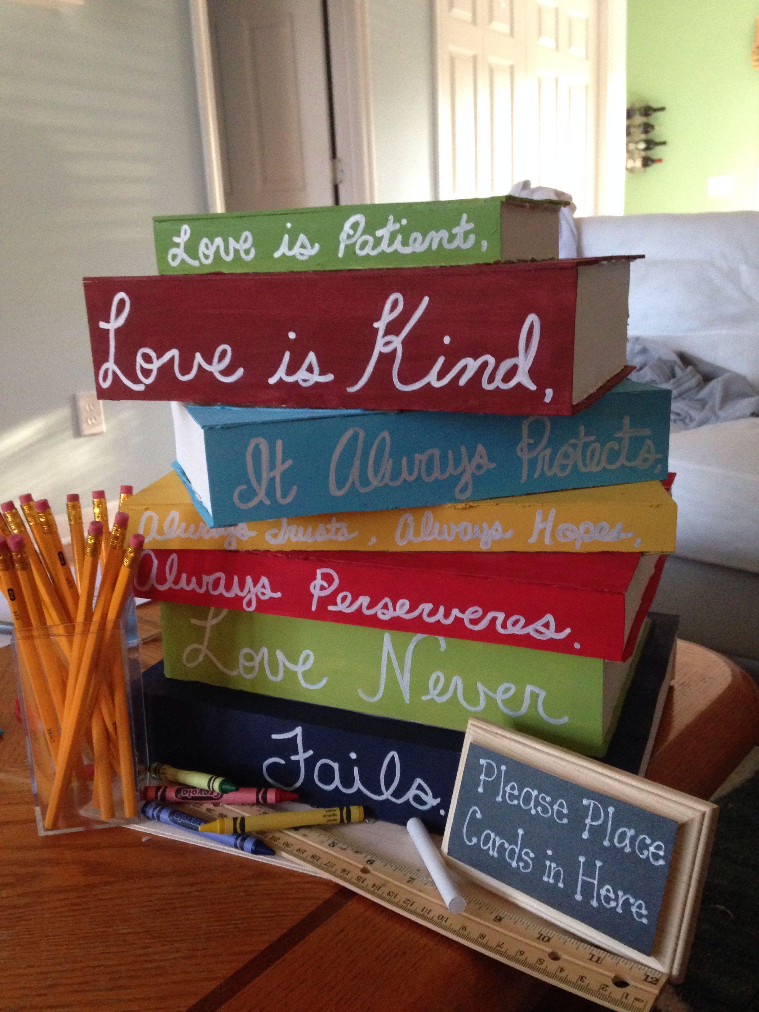 Card Box for teacher wedding | Crafty Picture Ideas | Pinterest | Crafty