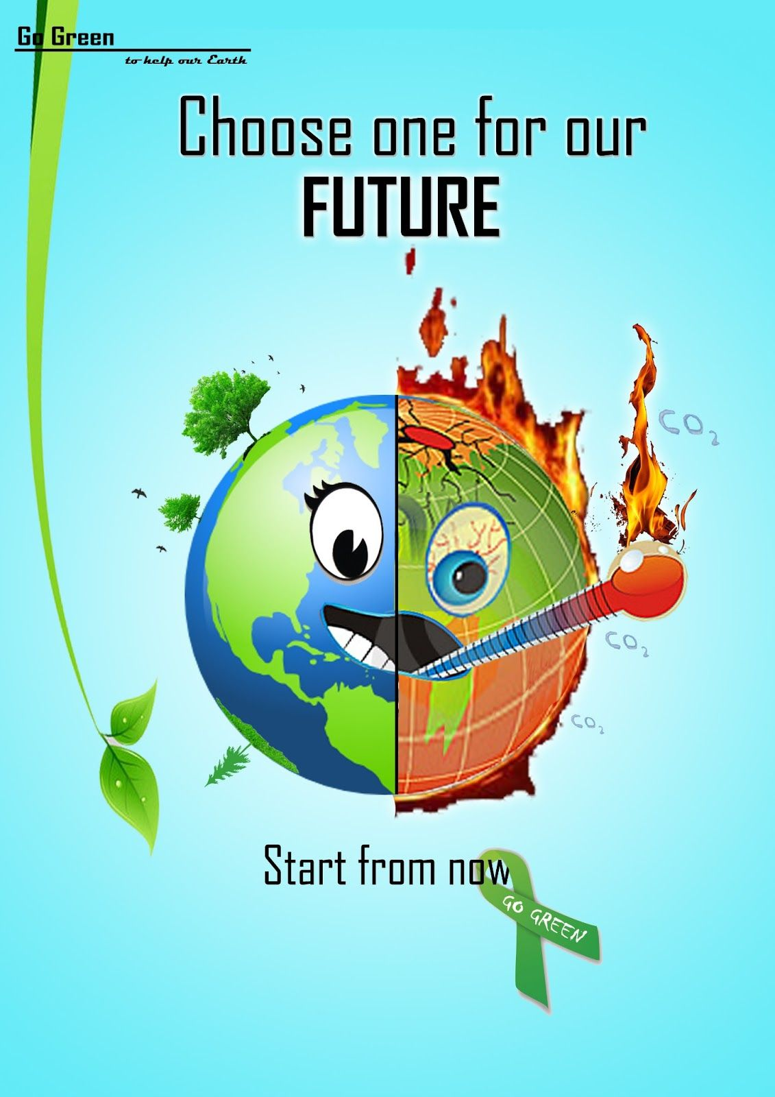go green poster ideas for nift nid ceed design entrance exam