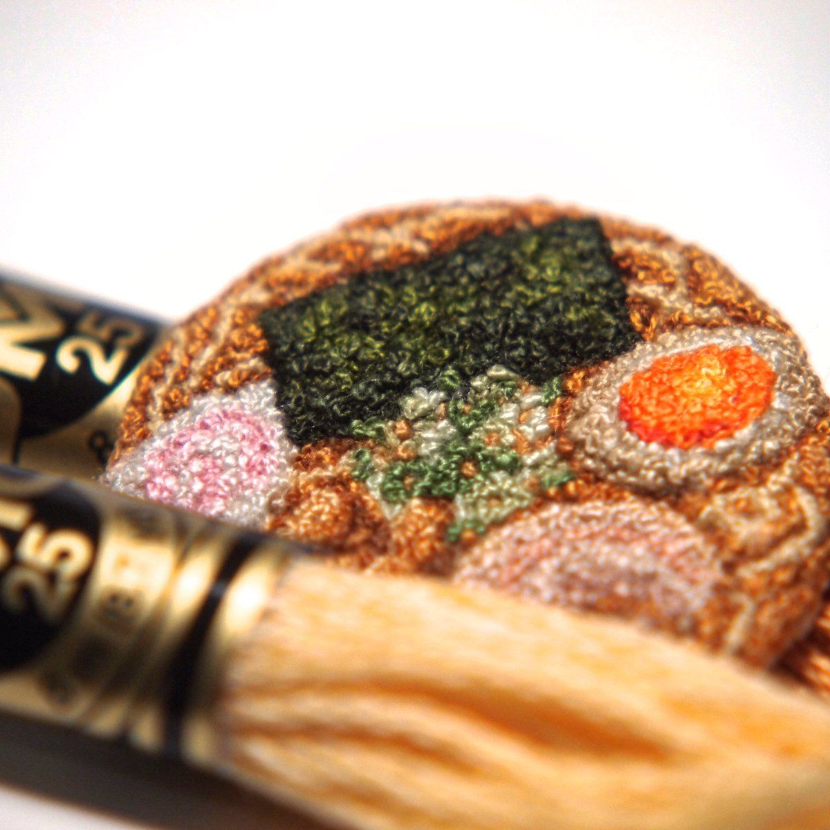 Miniture Embroidered Foods by Japanese Artist ipnot | Japanese embroidery,  Embroidery, Embroidery patterns