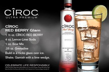 Ciroc Red Berry Glam Ciroc Recipes Ciroc Drinks Gin Drinks