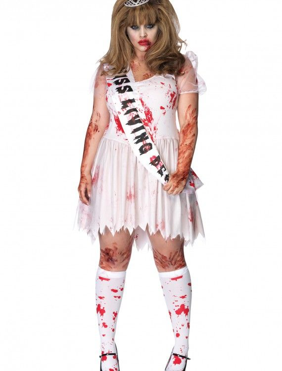 Plus Size Zombie Prom Queen Costume, halloween costume (Plus Size - halloween costume ideas plus size