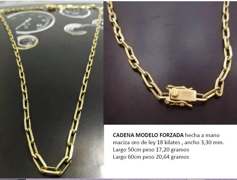 6f6b30af4a7e Cadena maciza hecha a mano en oro de 18 kts Ancho 3