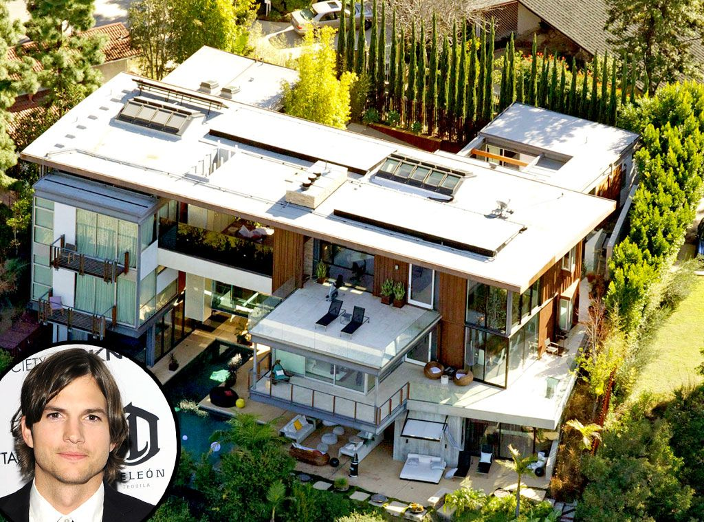 Ashton Kutcher From Celebrity Mega Mansions Mansion Outdoor - Ashton kutcher home