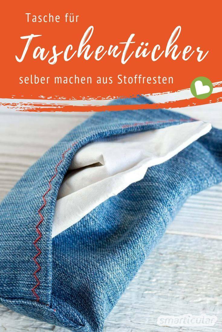 Nase putzen ohne Müll: Taschentüchertasche selber nähen aus Stoffresten