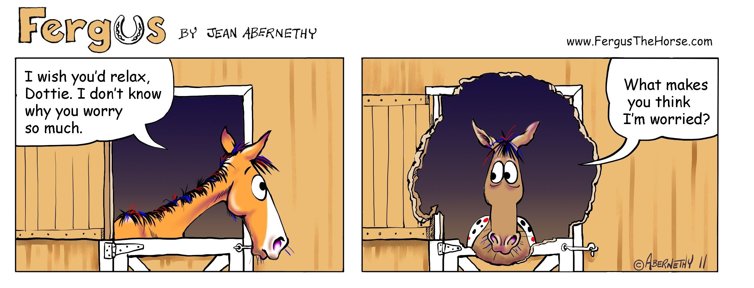 Fergus The Horse Chewing Comic