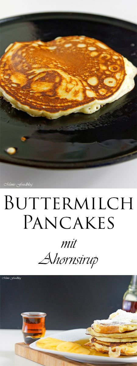 Photo of Buttermilk pancakes with maple syrup – Mimis food blog