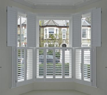May Work Better To Mount Shutters Flush With Molding Bay Window