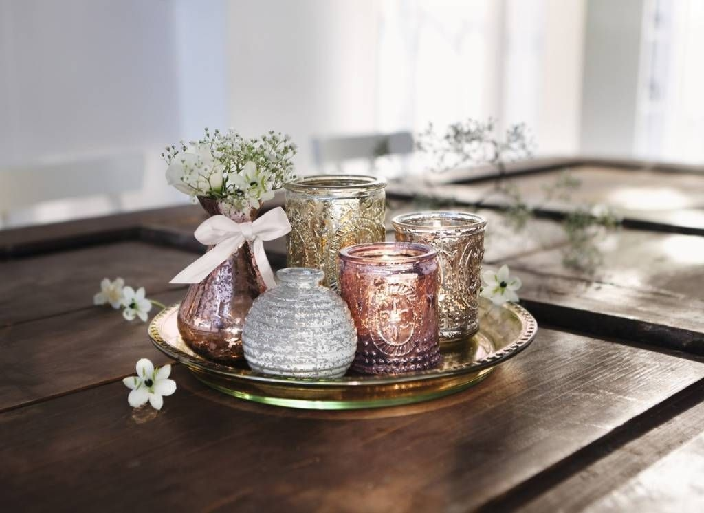 DekoTablett Candlelight  Vases 6tlg  Frhling in