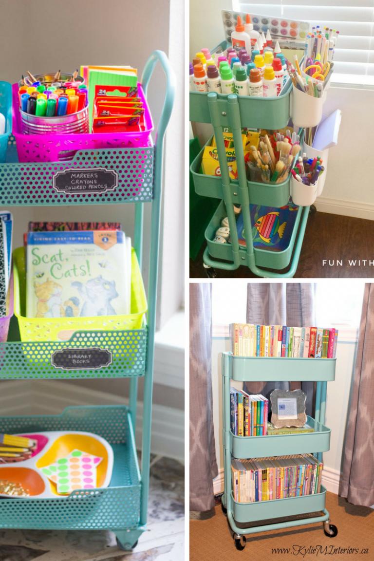 25 Raskog Ikea Cart Hacks For Crafts Smart Fun Diy Kids Craft Storage Ikea Crafts Craft Cart