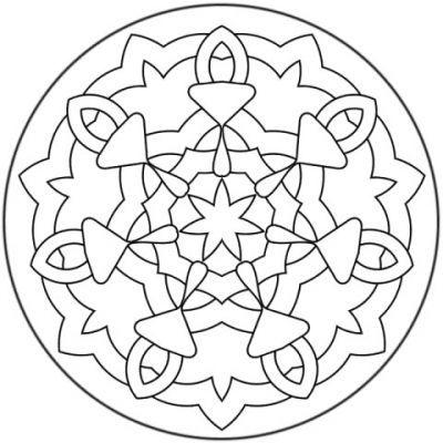 mandalas faciles coloriage Pinterest Vitrais, Mandalas e Colorir