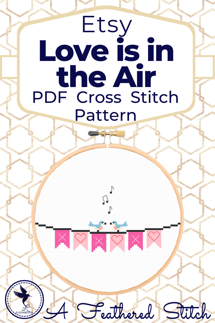 Xoxo Valentines Banner Pdf Cross Stitch Pattern In 2020 Cross