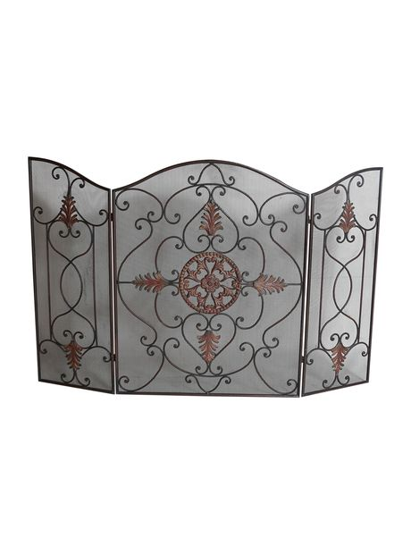 Magnificent Vintage Metal Fireplace Screen Antique Vintage Screens Beutiful Home Inspiration Ommitmahrainfo