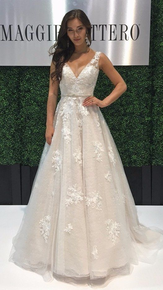 afa0b5c56ddc Meryl has a sister style! Meryl Lynette features lace motifs atop allover  lace instead of dotted tulle. Find this romantic and whimsical style at  your local ...
