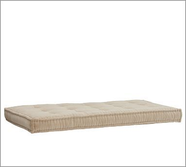 Tufted Daybed Cushion, Twill Honey Daybed mattress, Upholstered