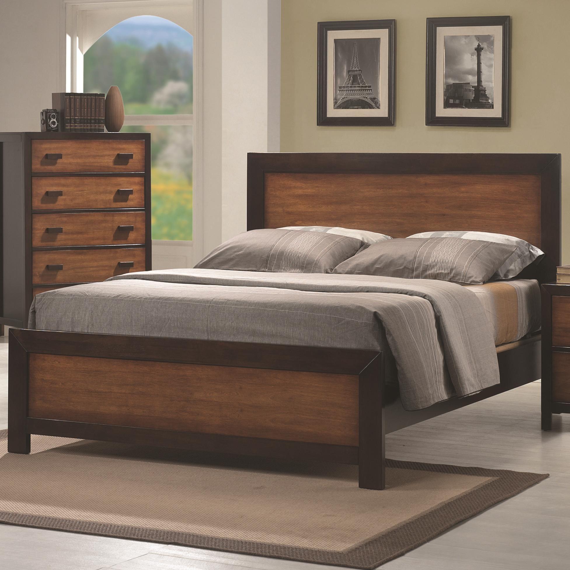 Coral King Headboard Bed by Coaster  Retro bedroom furniture, Oak