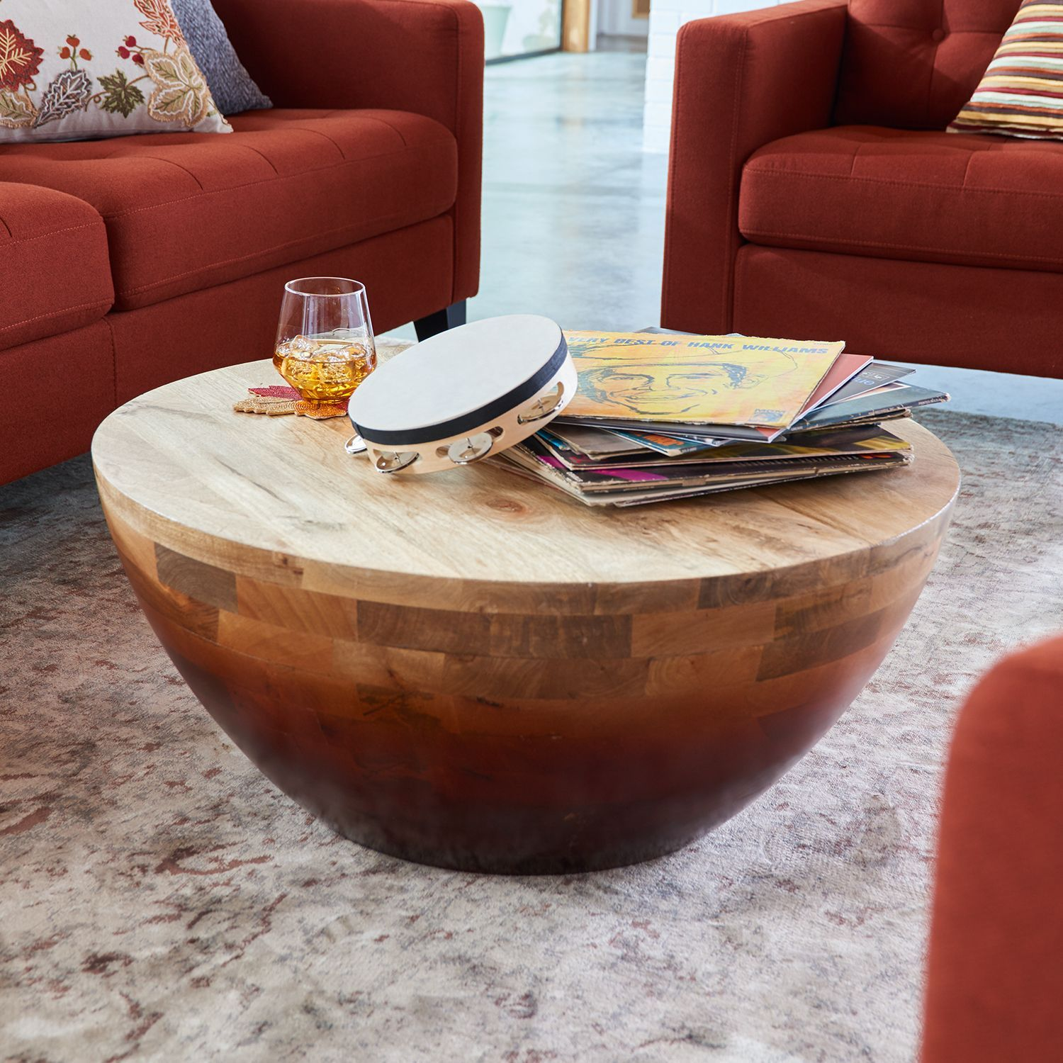 Pier One 254 32 Lincoln Collection Glass Top Round Coffee Table Round Glass Coffee Table Iron Coffee Table Glass Top Coffee Table