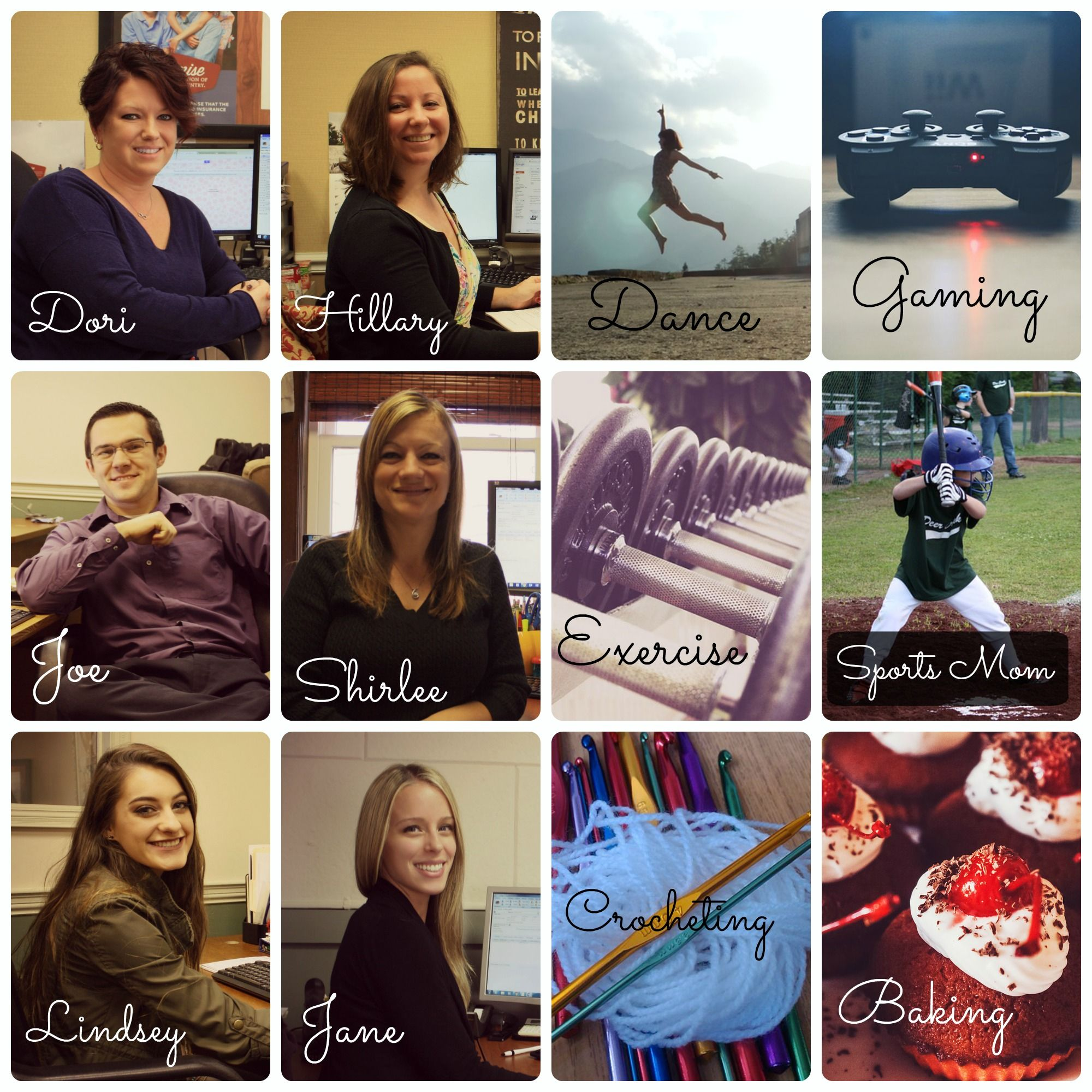 #January is #hobbymonth! Can you match our staff to their hobbies? #ParadisoInsurance @paradisoins
