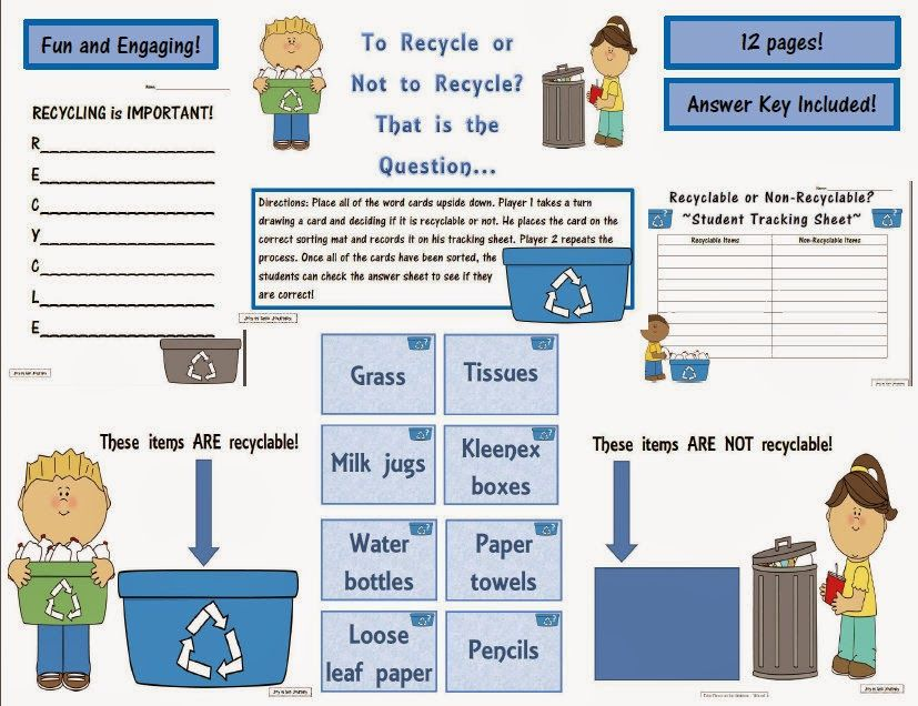 Mentor Text: The Three R's= Reuse, Reduce, Recycle | Mentor texts