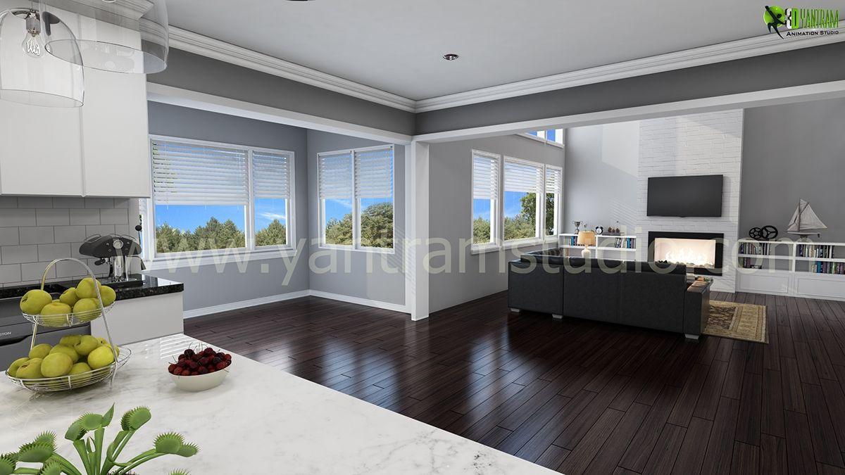 Sala de estar del dise o interior living moderno dise o de - Estudio de interiores ...