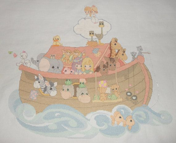 Noahs Ark Cross Stitch Pattern Cross Stitch Pattern LOOK