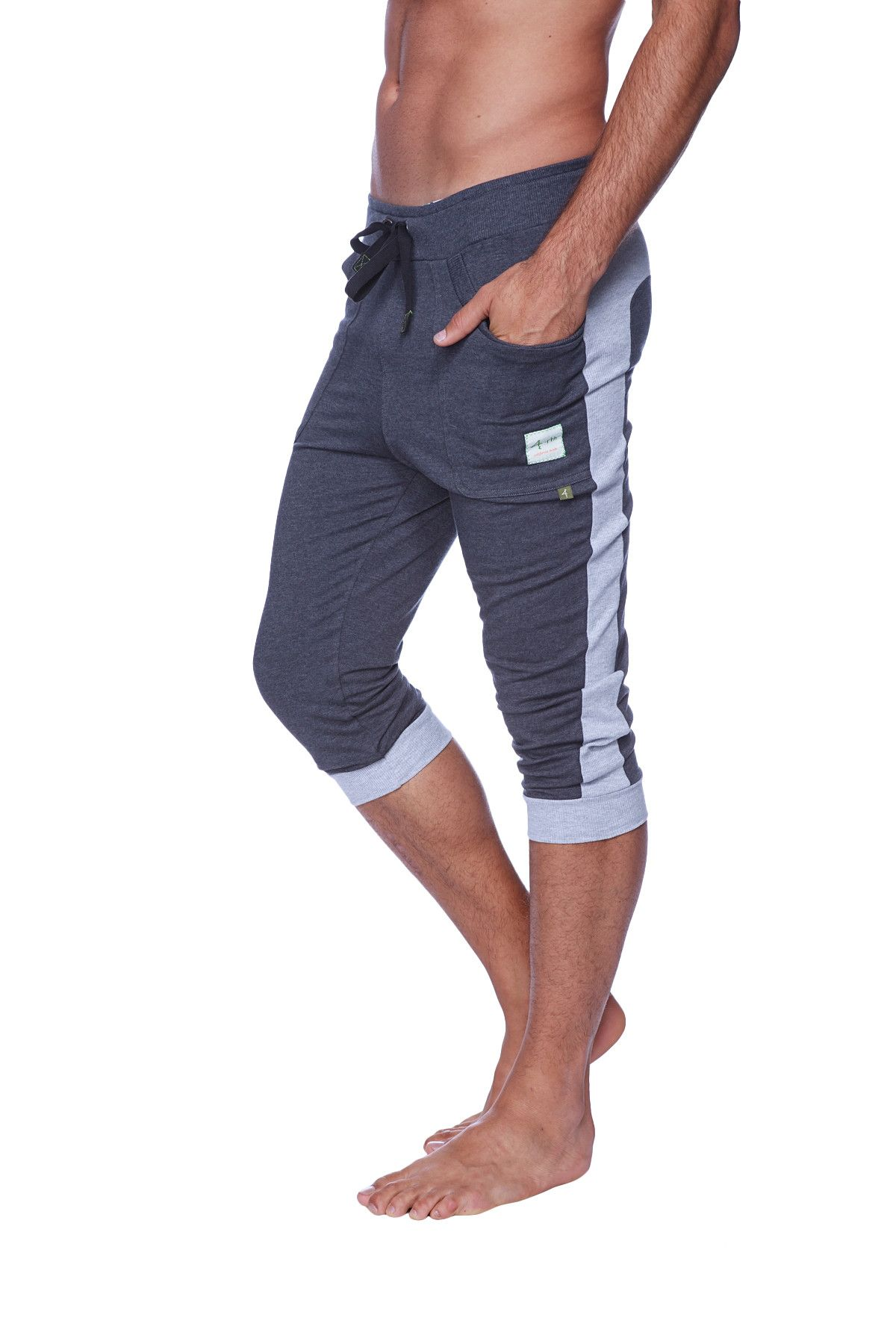 a54225b36e9baa Mens Cuffed Yoga Pants (Charcoal w/Heather Grey) in 2019 | Men's ...