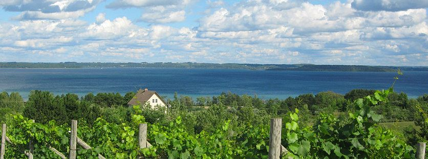 The View Of Grand Traverse Bay From Willow Vineyards In Michigan Is Breathtaking Traverse City Wineries Leelanau Michigan Road Trip
