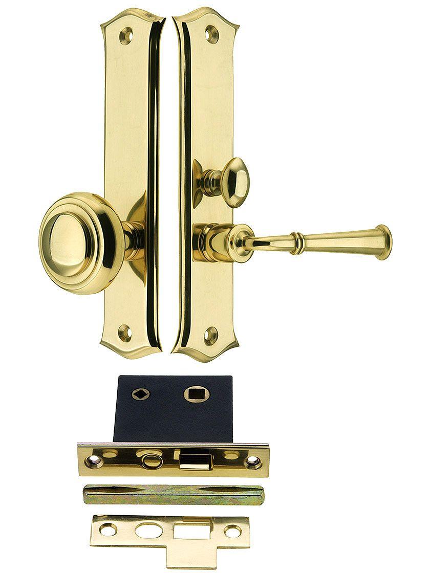 Amsterdam Screen Door Mortise Lock Set With 1 1 2 Backset