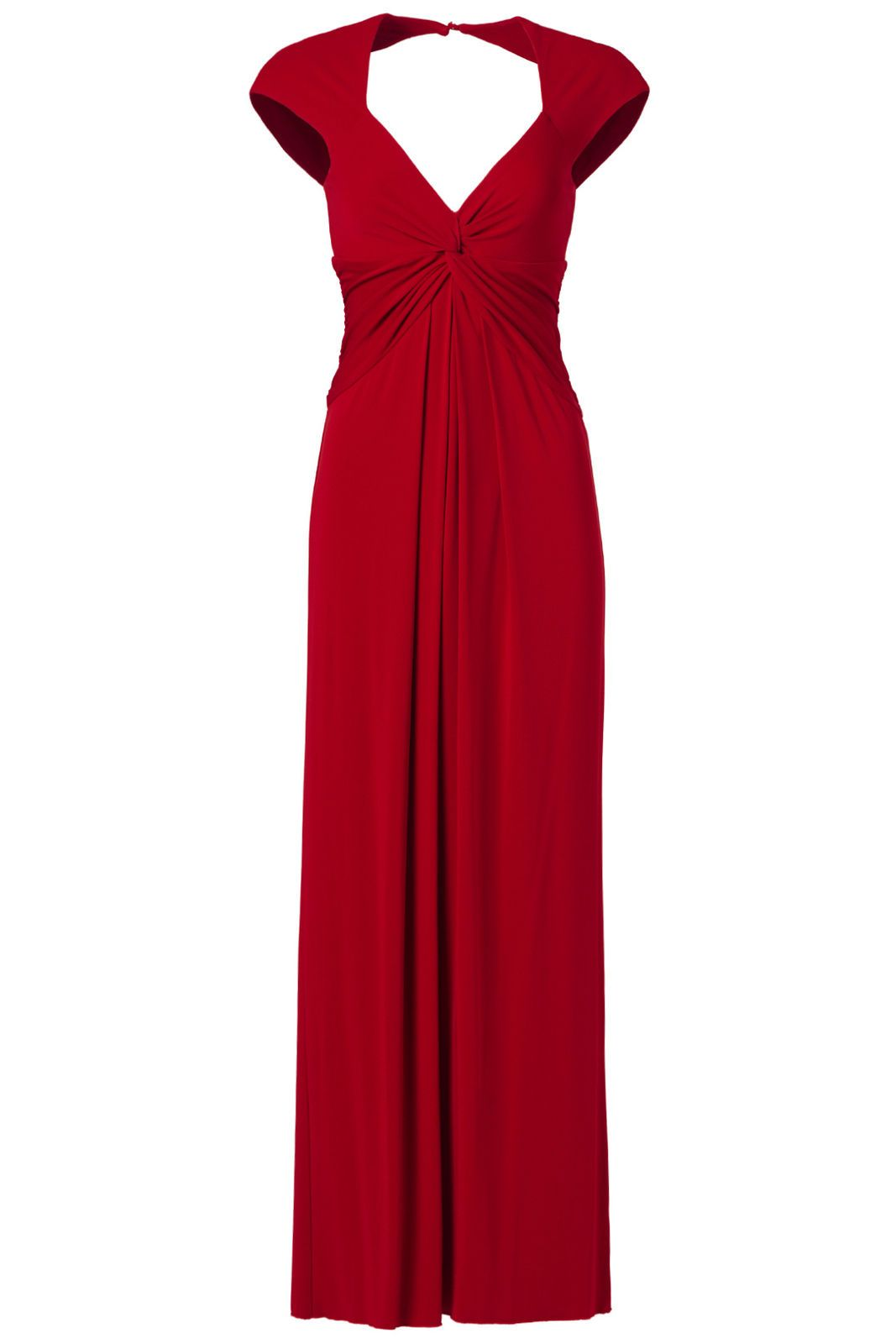 Cool Awesome Nicole Miller Red Women\'s Size 12 Gather V-Neck Cutout ...