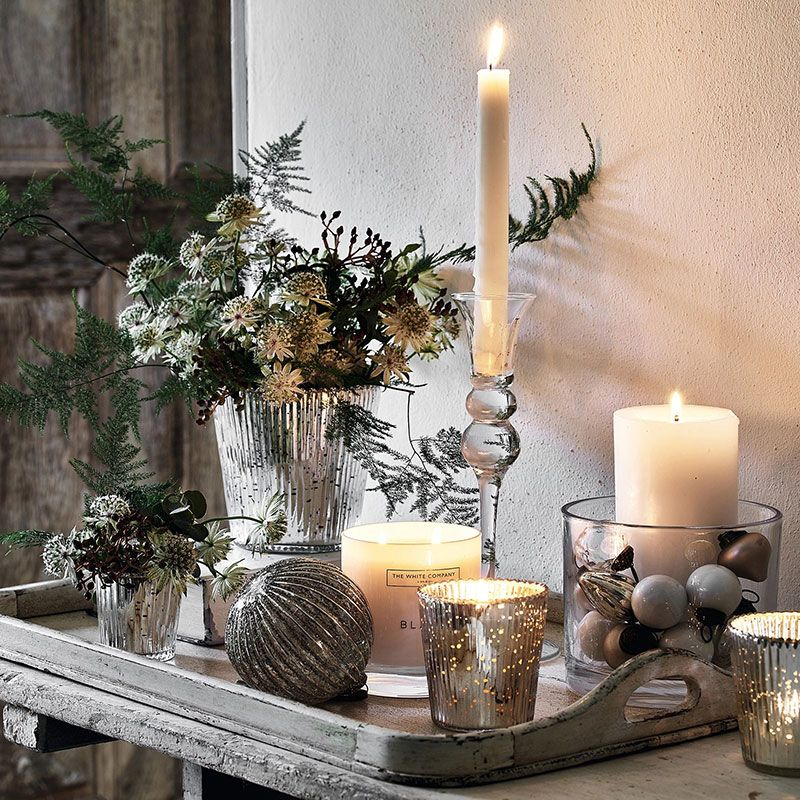 Magical Festive Decorations By The White Company The White Company Christmas Decorations Christmas Table Decorations