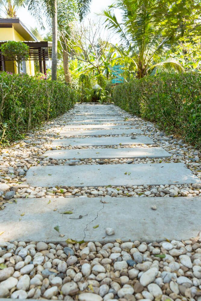 Garden Path Ideas And Designs Pictures  White Pebbles