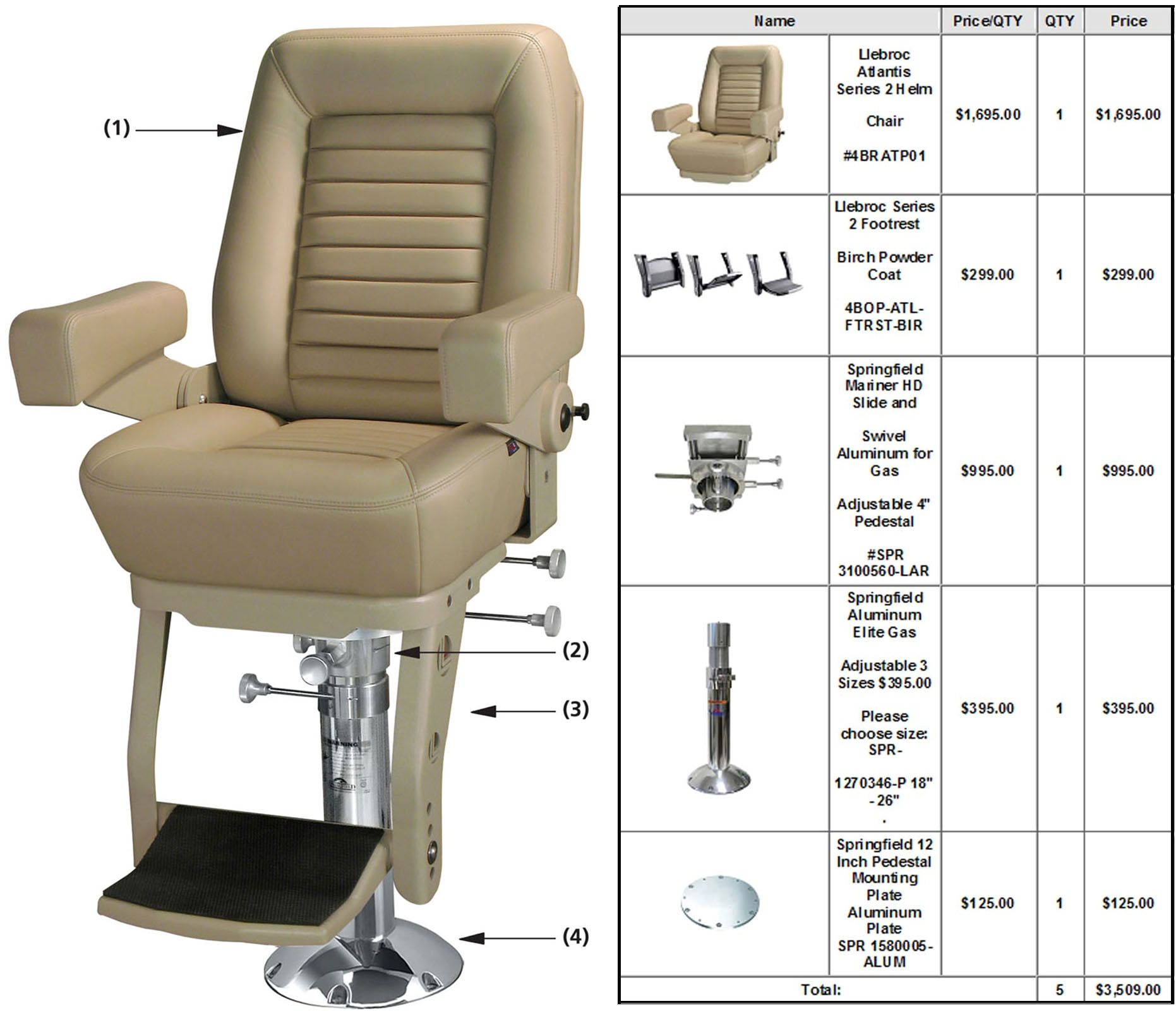 Boat captains chairs - Boat Seats By Llebroc Helm Chair Com