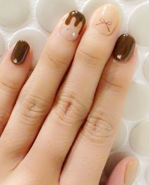 Chocolate Themed Nail Art Chocolate Pinterest Chocolate