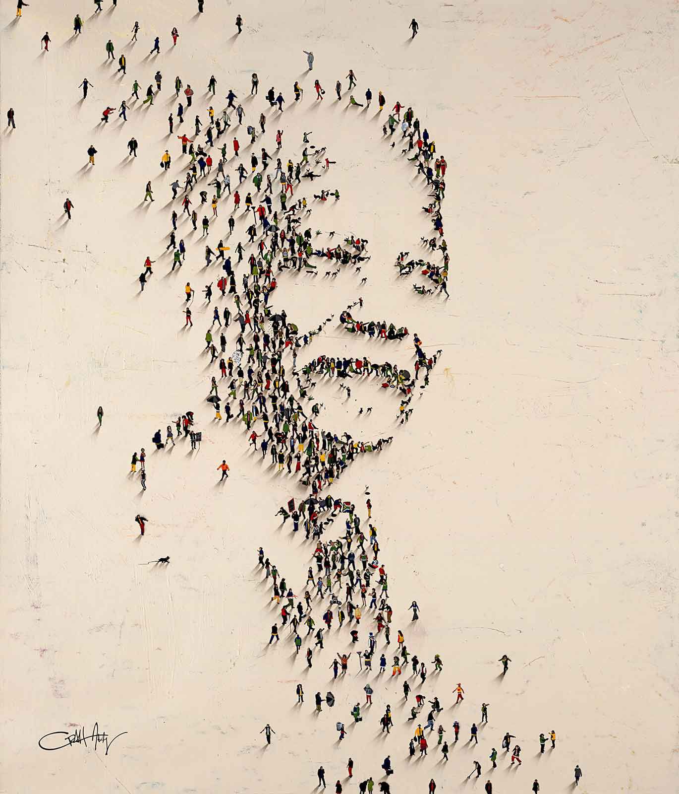 a6a6e6e67b0 Pixel People  Images Formed by Thousands of Humans