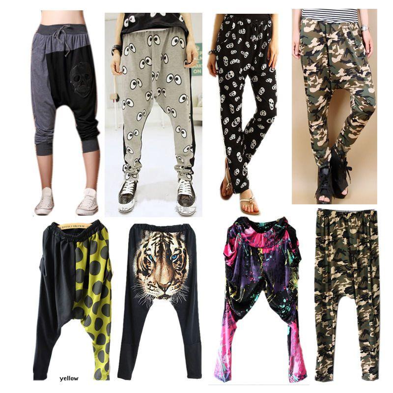 chic women hiphop harem pants trouser dance pants big