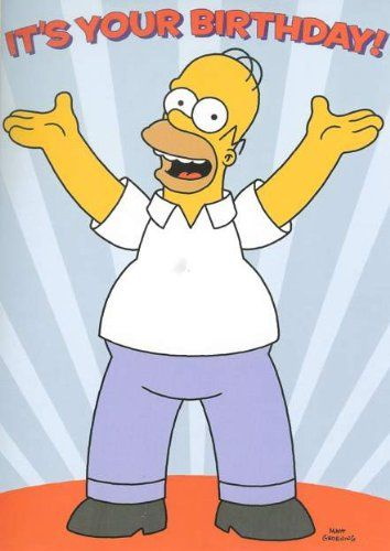 Homer Simpson Birthday Ecards Homer Simpson Pinterest Birthday