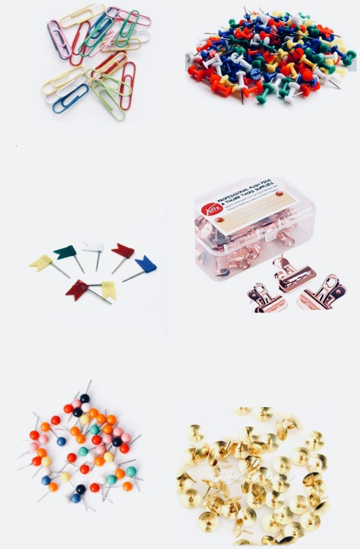 وهذي دبابيس الملونة واشياء للمكتب Diy School Supplies School Diy Crochet Bookmarks