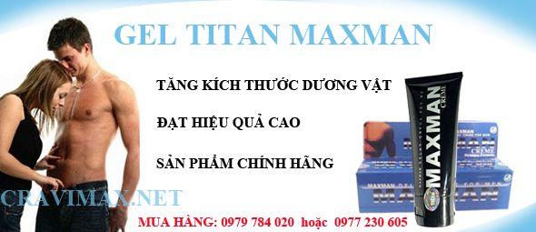 tăng kích thước dương vật bằng gel titan maxman gel titan maxman